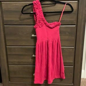Juicy Couture Smocked One Shoulder Dress